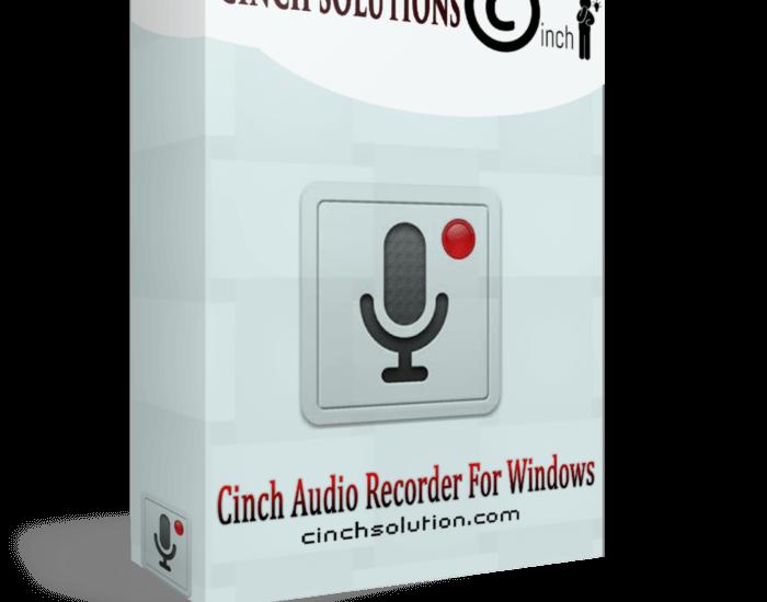 Cinch Audio Recorder 4.0.2 Crack + KeyCode 2021 Download